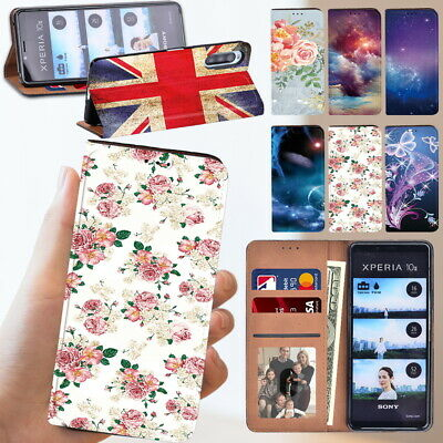£3.99 • Buy Leather Stand Wallet Phone Cover Case Fit Sony Xperia L4/ 1 II/ 10 II Icellphone