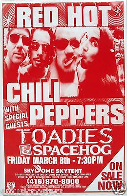 $15.83 • Buy Red Hot Chili Peppers / Toadies / Spacehog 1995 Toronto Concert Tour Poster