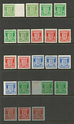 £0.99 • Buy GUERNSEY 1941-44 GERMAN OCCUPATION WWII ISSUES X 21 INC FRENCH PAPER MINT
