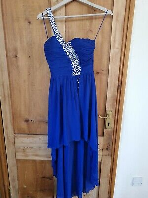 £2.50 • Buy Quiz Blue One Strap High Low Dress Uk Size 8 Teens/young Adults