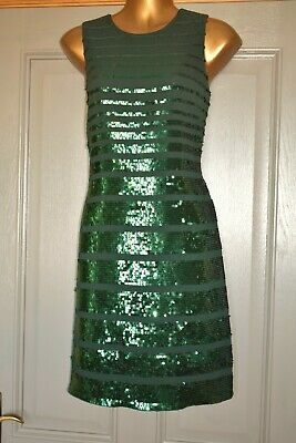 AU9.27 • Buy Monsoon Green Sequin Embellished Party Wedding Formal Occasion Dress Size 14 New