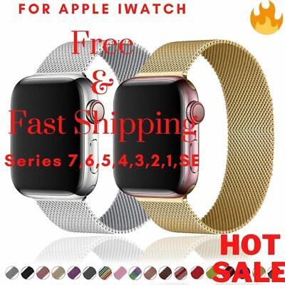 AU7.98 • Buy Magnetic Milanese Loop Band For Apple Watch 7/6/5/4/3/2/1SE IWatch Strap 38-45mm