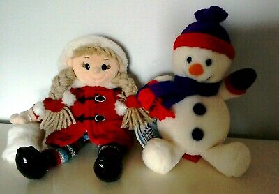 £13.99 • Buy Tesco Chilly And Friends Emily And Snowman 9  Soft Plush Toys Excellent Cond
