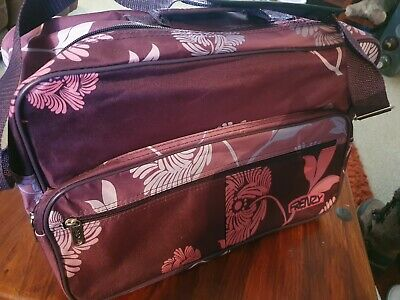 £6.99 • Buy Frenzy Floral Travel Bag With Shoulder Strap Pink/purple Excellent Condition
