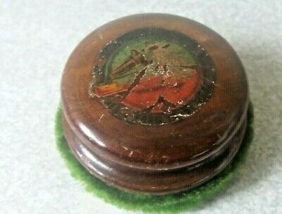 £15 • Buy Vintage His Masters Voice HMV Nipper Dog Gramophone Record Wooden Cleaner Wiper