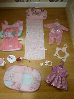 £25 • Buy Baby Annabell Dolls Acessories Cocoon Carrier Changing Bag Mat Outfits Bottle +