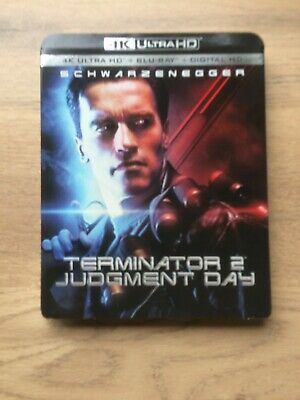 £10 • Buy Terminator 2 Judgment Day, 2 Disc Limited Edition Slipcover 4K UHD And Blu-Ray