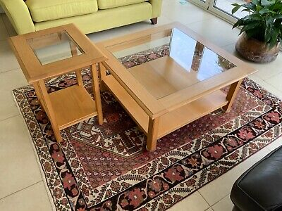 £85 • Buy Marks And Spencer Oak And Glass Coffee And Side Table