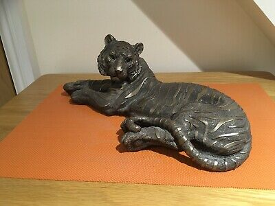 £50 • Buy Frith Sculpture. Absolutely Stunning Bronze Tiger  By Mitko Kavrikov.