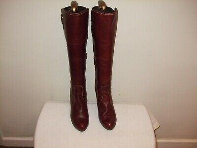 £12.99 • Buy  Women's River Island  Knee High  Leather  Boots  Rich Burgundy Uk Size 5 Eur 38