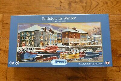 £2.50 • Buy Padstow In Winter By  Terry Harrison 636 Piece Gibson Jigsaw Puzzle