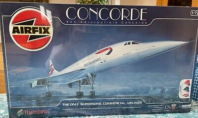£50 • Buy New Airfix Concorde Aeroplane 1:72 Scale Model Building Kit 11050G Boxed 273010