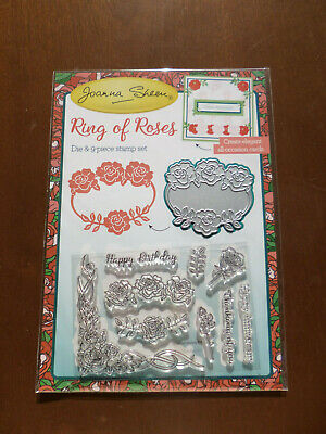 £5.99 • Buy New - Joanna Sheen - Ring Of Roses - Die & 9 Piece Stamp Set