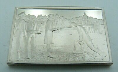 £23.47 • Buy 925 Solid Silver Ingot - 'The Knighting Of Sir Francis Chichester' Greenwich 67