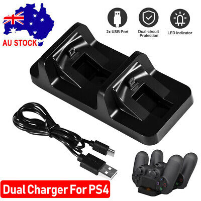 AU15.90 • Buy For PS4 Dual Charging Charger Dock Station Stand For Playstation 4 Controller