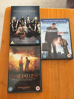 £3 • Buy 3 DVD's Downtown Abbey, The Fallen & Pursuit Of Happyness