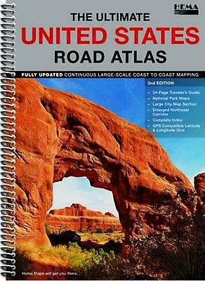 £30.49 • Buy The Ultimate United States Road Atlas: HEMA.US.A (English) Spiral Book Free Ship