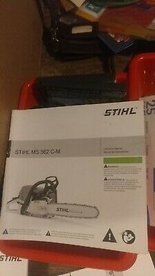 £5.78 • Buy Stihl MS362 C-M Chainsaw MS 362 Instruction/owners Manual