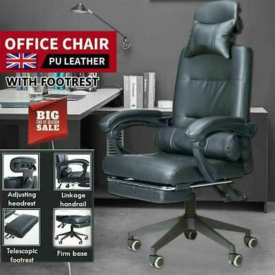 £57.99 • Buy Luxury Gaming Home Office Chair Recliner PU Leather Swivel Computer Desk Chair