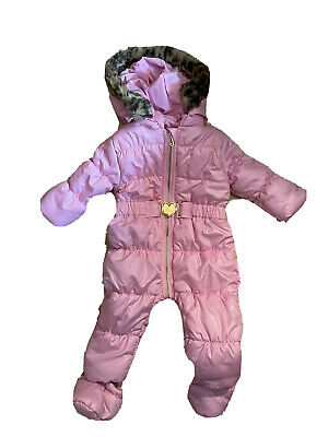 £18 • Buy New With Tags Juicy Couture Pink Puffer  Baby Snowsuit Snow Ski Suit 3-6 Months