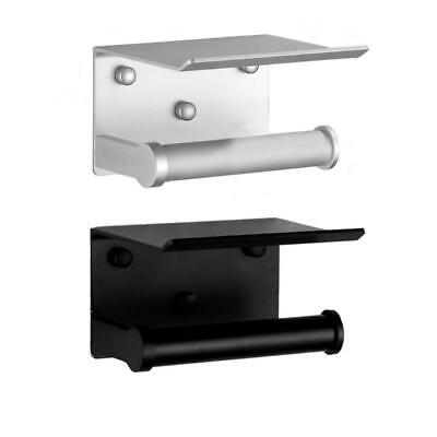 AU16.42 • Buy Toilet Paper Holder With Phone Shelf Wall Mounted Roll Paper Towel Dispenser