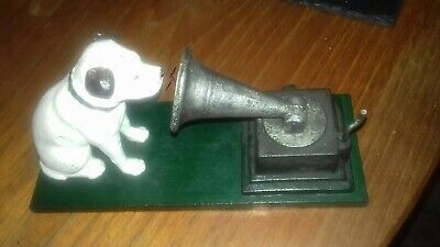 £14.99 • Buy Cast Iron HMV Dog And Gramophone Nipper Dog Ornament Reproduction