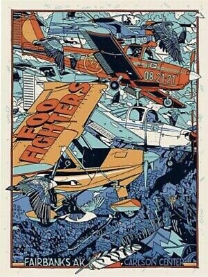 $150 • Buy Tyler Stout Foo Fighters Poster SOLD OUT Fairbanks, AK 8/21/21