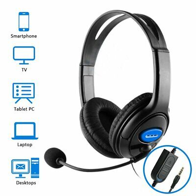 AU16.99 • Buy Business Gaming Headset With Mic Stereo Headphones With Mic For Laptop PC PS4