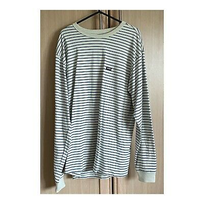 £10 • Buy Vans Off The Wall Classic Stripe Long Sleeve  T Shirt-  Seed Pearl/moroccan Blue