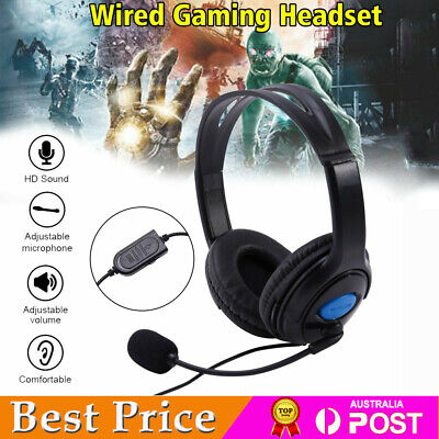 AU20.79 • Buy Wired Stereo Bass Surround Gaming Headset For PS4 New Xbox One PC TV With Mic AU