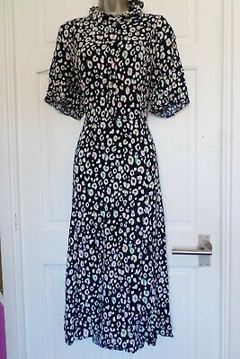 £0.99 • Buy Joules...size 18....midnight Blue & Ditsy Leopard Print Dress...gorgeous....look