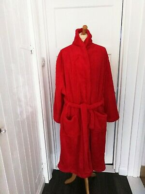 AU9.18 • Buy Ladies Soft Red Dressing Gown Robe Plus Size XXL New Without Tag