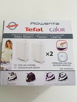 £9 • Buy Rowenta Tefal 2 Cartridges Antiscale Handshower Ref: XD9060E0 For The Cleaning