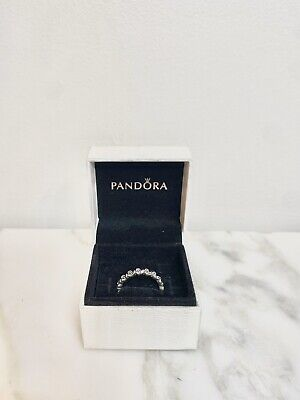 AU0.99 • Buy Genuine Pandora Sterling Silver S925 Flower Rose Band Ring - Size 54
