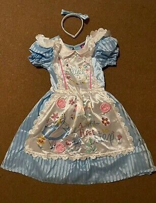 £9.99 • Buy Girls Alice In Wonderland Famcy Costume / Dress Up/ Role Play Age 7-8 Years (B4)