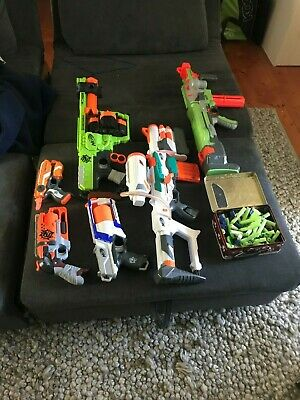 AU95 • Buy 6 Nerf Guns Plus Bullets, Used. There Are Little Nerf Blasters And Big Ones.