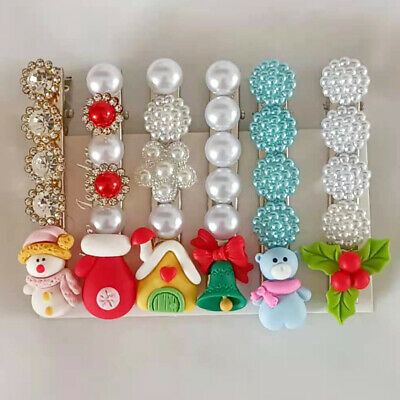 AU1.67 • Buy Pack Of 6 Christmas Girls Hair Clips Faux Pearl Hairpin Women's Hair Accessories