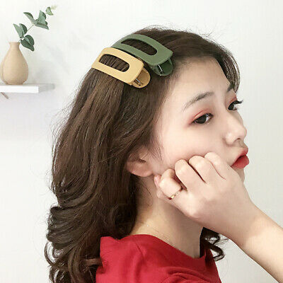 AU3.09 • Buy Women Large Side Clip Frosted Matte Hairpin Hairgrip Barrettes Hair Accessories