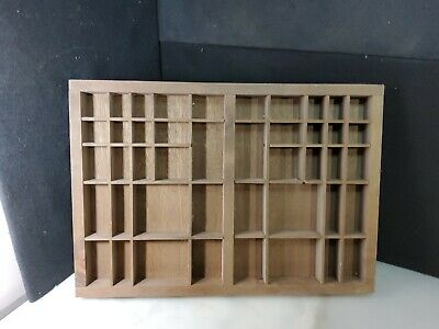AU90.40 • Buy Vintage Wooden Printers Drawer Letterpress Type Set Tray Shadow Box 22x16 Inches