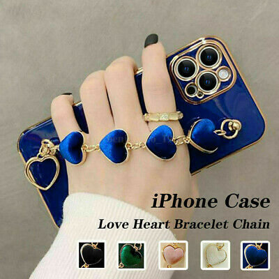 AU20.85 • Buy Cute Love Heart Wrist Chain Girls Soft Case Cover For IPhone 11 12 Pro Max XS XR