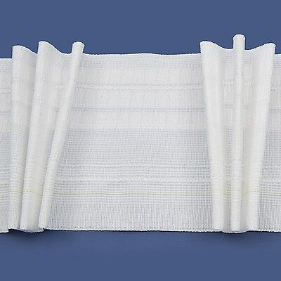 Rufflette DEEP Tridis Pinch Pleat Curtain Tape/Fabric (sold By The Metre) 138mm • 3.55£