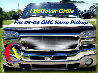 $59.99 • Buy 03 04 05 06 2006 2003 2004 2005 GMC Sierra Pickup Upper Billet Grille
