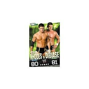 WWE Slam Attax Evolution Rhodes & DiBiase Tag Team Card • 0.99£