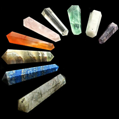 £2.69 • Buy Crystal Agate DT Double Terminated Hexagonal Points Vogel Wand Chakra Grid