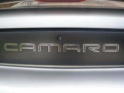 $59.99 • Buy Gm Licensed, 93-02 Camaro Rear Bumper Inserts Letters Fills Stainless Steel Ex