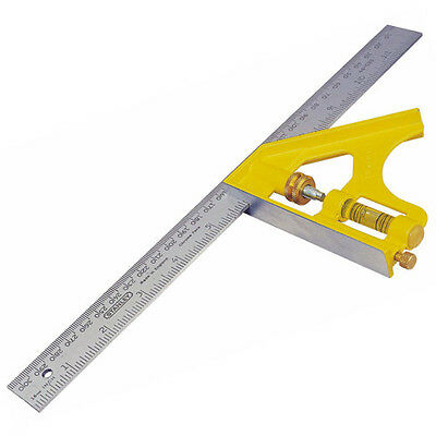 STANLEY 12  (305mm) Metal Engineers Combination Cast Square With Scriber 246028 • 18.95£