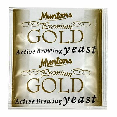 Muntons Gold Beer Brewing Yeast For Home Brew Beers. • 3.35£