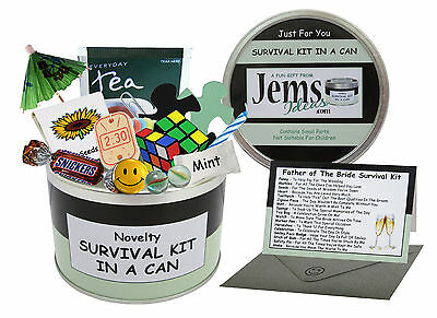 JEMSIDEAS Father Of The Bride Survival Kit In A Can. Novelty Gift & Wedding Card • 11.95£