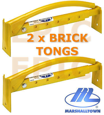 £54.95 • Buy 2 X MARSHALLTOWN 16 /40CM Adjustable Brick Tongs Clamp Carrier Lifter M88, TWO!