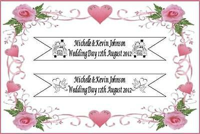 Wedding Day Just Married Banner Personalised  • 2.95£